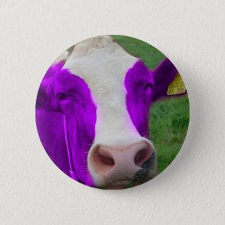 purple cow pinback button