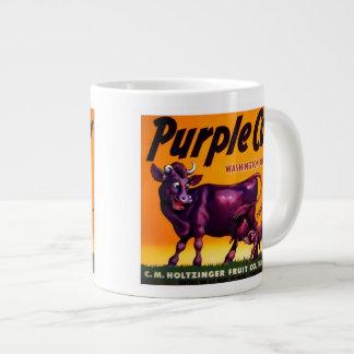 Purple Cow Produce Crate Label - Jumbo Mug