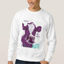 Purple Cow Quite Possibly Contemplating Flight Sweatshirt