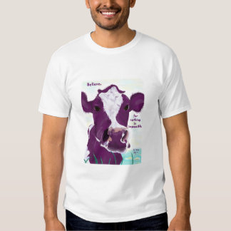 Purple Cow Quite Possibly Contemplating Flight T Shirt
