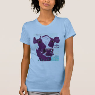 Purple Cow Quite Possibly Contemplating Flight Tshirt