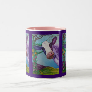 Purple Cow Two-Tone Coffee Mug