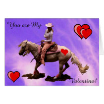 Purple cowgirl -Card - Valentine`s Day Card