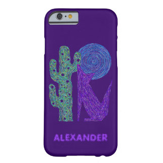 Purple Coyote Wolf Colorful Southwestern Design Barely There iPhone 6 Case