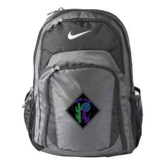 Purple Coyote Wolf Colorful Southwestern Design Nike Backpack