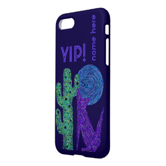 Purple Coyote Wolf Southwest Moon iphone7 YIP iPhone 8/7 Case
