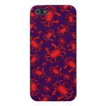 Purple crab pattern iPhone 5 cover