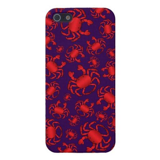 Purple crab pattern iPhone 5/5S cases
