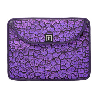 PURPLE CRACKED BACKGROUND TEXTURES PATTERNS MacBook PRO SLEEVE