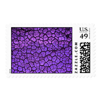 PURPLE CRACKED BACKGROUND TEXTURES PATTERNS POSTAGE