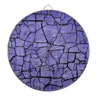 Purple Cracked Paint Cool Dartboard Dart Board