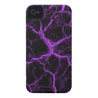 Purple Cracks on Black BlackBerry Bold Case