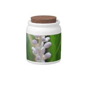 Purple Crazy Flower Candy Jars