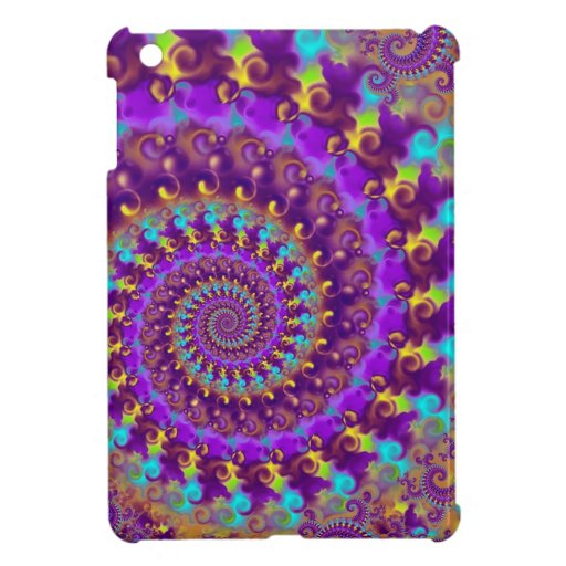 Purple Crazy Fractal Case For The iPad Mini