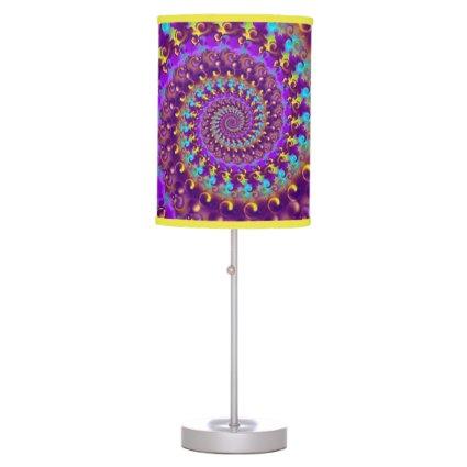 Purple Crazy Fractal Desk Lamp