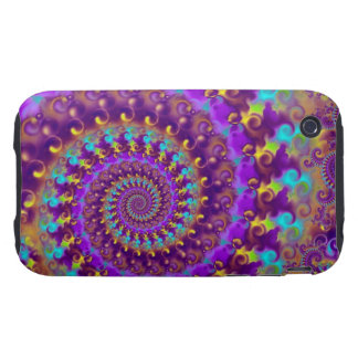 Purple Crazy Fractal iPhone 3 Tough Case