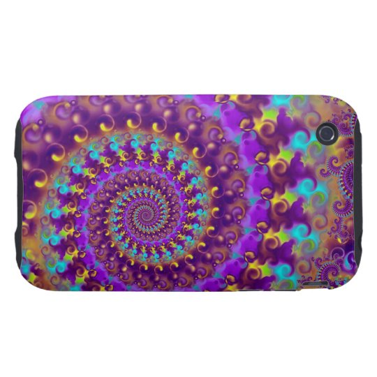 Purple Crazy Fractal iPhone 3 Tough Case