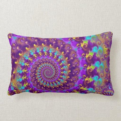 Purple Crazy Fractal Throw Pillow