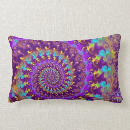 Purple Crazy Fractal Throw Pillows