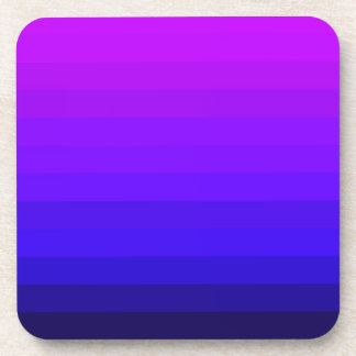 Purple Crazy Stripes Drink Coaster
