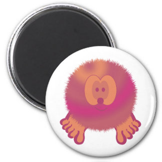 Purple Cream Pom Pom Pal Magnet