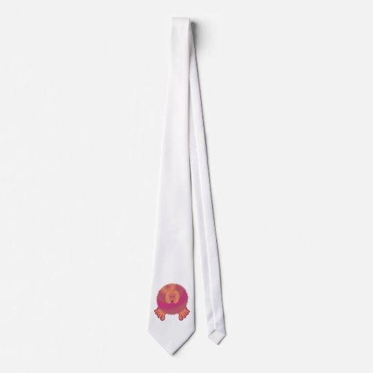 Purple Cream Pom Pom Pal Tie