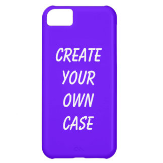 Purple create your own case iPhone 5C covers