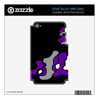Purple creativity decal for iPod touch 4G