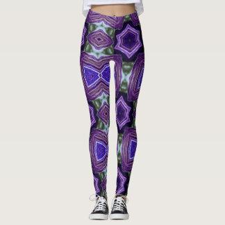 Purple Creativity Geometric Leggings