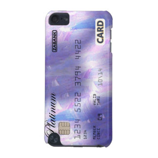Purple credit card iPod touch 5G cover