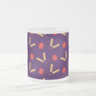 purple cricket pattern 10 oz frosted glass coffee mug