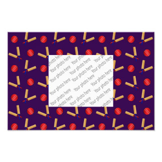 purple cricket pattern art photo