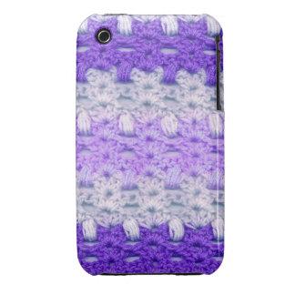 purple crochet style iphone case