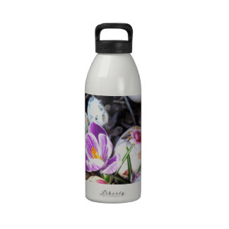 Purple Crocus and Floral Easter Eggs Drinking Bottle