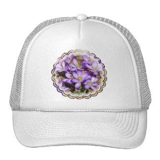 Purple Crocus Baseball Hat