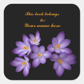 Purple Crocus Bookplate