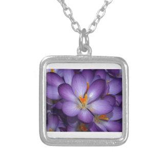 Purple Crocus Bouquet Custom Necklace