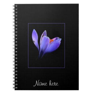 Purple CROCUS flower Spiral Notebooks