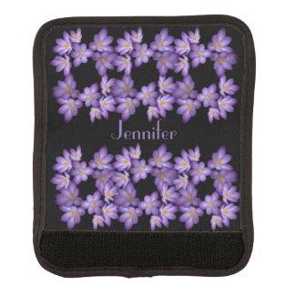Purple Crocus Garden Flowers Luggage Handle Wrap