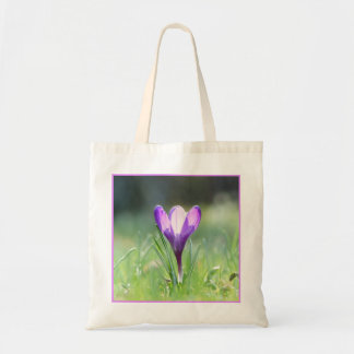 Purple Crocus in spring 03.3 Tote Bag