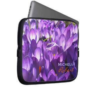 Purple Crocus Laptop case *Personalize* Laptop Sleeves