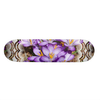 Purple Crocus Skateboard