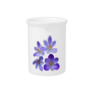 Purple crocuses 02 drink pitcher