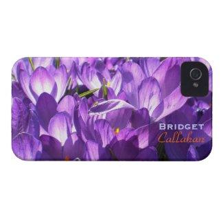 Purple Crocuses iPhone 4 case *personalize* casemate_case