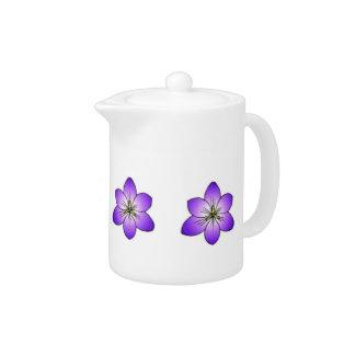 Purple Crocuses Teapot