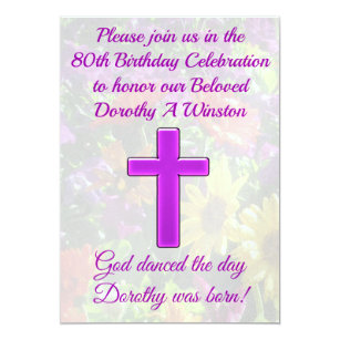 80th Religious Invitations Zazzle