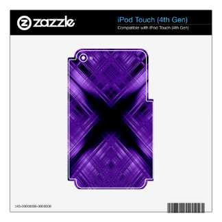 Purple cross and grid skins for iPod touch 4G