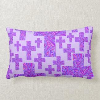 Purple Cross Christian Symbol Faith Religion Lumbar Pillow