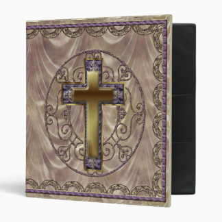 Purple Cross Dark Binder