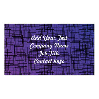 Purple Cross Hatchings Business Card Template